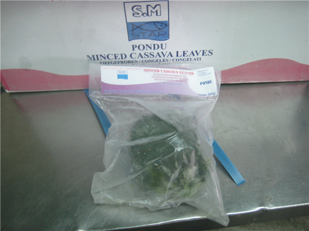 Minced Cassava leaves